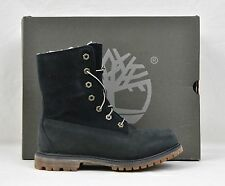 Timberland Women's Teddy Fleece Fold Down Boots Navy sz 9.5 New NWB