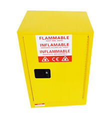12 Gallon Yellow Safety Storage Cabinet Double-layer Fire Protection Steel Plate