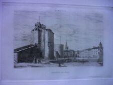 Gravure originale Port de La Rochelle