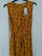 Yellow Ditsy Floral Dress Size 18