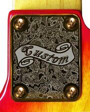 Neck Plate Neckplate Gold Fender Strat Tele P Bass J Bass Guitar Paisley Custom
