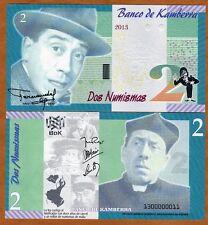 Kamberra, Kingdom, 2 Numismas, 2013, UNC > Fernandel