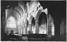 RPPC Nave Looking West EXETER CATHEDRAL Interior Devon, England Postcard c1910s
