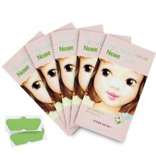 Etude House Green Tea Nose Pack (5 Pieces) + Free Sample/ Korean Cosmetics UK