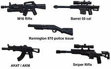 Assault Rifle gun set compatible w/ minifigures Halo Mega M16 AK47 Bloks weapons