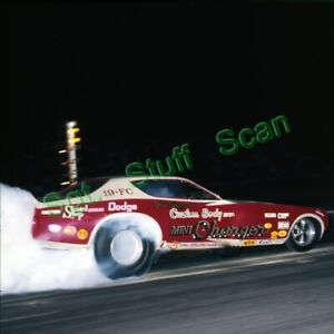 1970s Vintage drag racing 46mm photo slide Castronovo Mini Charger Funny Car