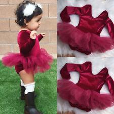 Newborn Infant Baby Girls Romper Tulle Dress Bodysuit Jumpsuit Outfits Clothes