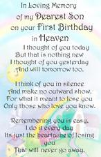 Waterproof baby/Child loving memory Birthday Graveside Card  Memorial  CH20