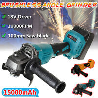 800W 100mm Brushless Cordless Angle Grinder Cut off Tool For 18V Makita