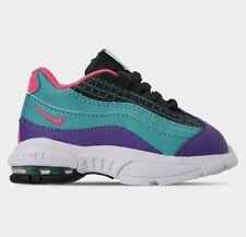 TODDLER GIRL: Nike Little Air Max '95 Now, Green/Hyper Pink - Size 9C BQ7220-300