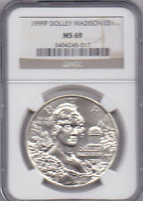 1999-P Dolley Madison Commemorative Dollar [S$1] 90% Silver Proof NGC MS 69