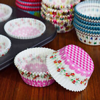 100x Greaseproof Paper Cake Cup Chocolate Liners Baking Cupcake Cases Muffin DIY