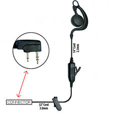 Klein Agent-K1 1-Wire Earpiece for Kenwood 2-Pin Radios