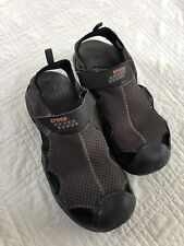 EUC Crocs Men's Brown Swiftwater Mesh Sandal Shoes Size 11