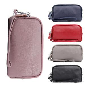 Damen Clutch Leder Geldbeutel Portemonnaie Brieftasche mit Handyfach Geldbörse