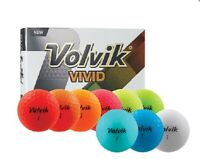 VOLVIK VIVID MATTE FINISH GOLF BALLS (1 DOZEN) 2018 - CHOOSE COLOR