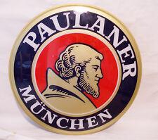 Paulaner TARGA  INSEGNA BIRRA con staffa di fissaggio DIAMETRO 67 CM