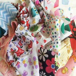 BIG BAG Patchwork Bundle Fabric Material Scraps Joblot Mixed Craft Offcuts