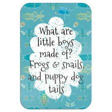 """What are Little Boys Made of Novelty Metal Sign 6"""" x 9"""""""