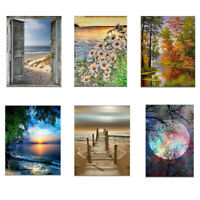 Modern Beach Sunset Landscape Scenery Canvas Poster Picture Home Wall Art Decor