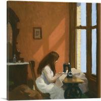ARTCANVAS Girl at Sewing Machine 1921 Canvas Art Print by Edward Hopper