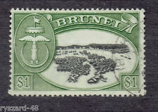 Brunei 1952  -  Mi 89   Arms and Water Village