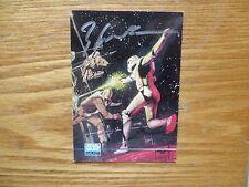 1995 STAR WARS GALAXY III HAN SOLO VS STORMTROOPER CARD SIGNED BILL SIENKIEWICZ