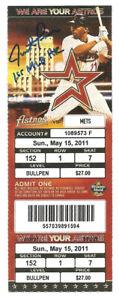 Justin Turner Autographed Ticket 1st MLB Home Run 6/15/11 Dodgers w Insc
