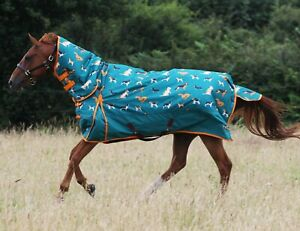 Gallop DOG PRINT 200g Full Neck Combo Medium Weight  Waterproof Turnout Rug