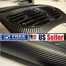 "120""x 5FT Premium 4D Glossy Black Carbon Fiber Vinyl Wrap Film BUBBLE FREE"