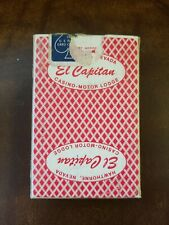 "VINTAGE El Capitan Casino-Motor Lodge Bee No.92 ""NARROW SIZE"" playing cards RED"
