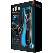 Braun BT3020 Beard/Hair Cordless Rechargeable Trimmer for Men, Easy Fast Precise