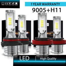 9005 + H11 160W 3200LM Combo LED Headlight Kit High Low Beam COB Bulbs 6000K