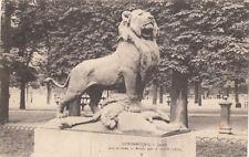 CPA LUXEMBOURG LUXEMBOURG jardin lion de Nubie statue en bronze par A. Cain ti.