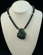 Artisan Necklace Kambala Jasper Freeform Black Onyx 925 Silver Handcrafted USA