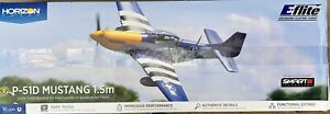 E-Flite P-51D Mustang 1.5m BNF Basic with Smart Airplane - EFL01250