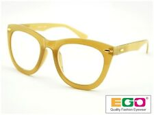 EGO Tom Retro Geek Eyeglasses Ford Style Horn Rim Yellow Reading glasses +1.50