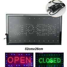 Bright Led 2in1 Business Open Closed Sign Animated Flashing Neon Store Board Bar