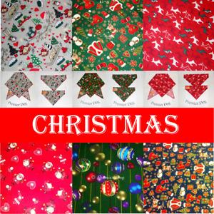 8 x Christmas Mix Dog Bandanas / Scarf - 3 Sizes To Choose From!