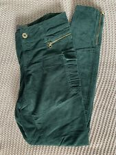 New TED BAKER Celo Dark Green Corduroy Skinny Combat Trousers W26 L30