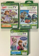 LeapFrog LeapTV Disney Frozen Sofia Pixar Learning Video Game Cartridge Lot of 3