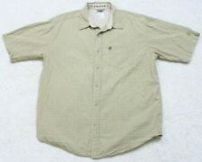 The North Face A5 Series Beige Pocket Dress Shirt Button Up Short Sleeve Large