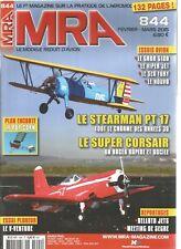 MRA N°844 PLAN : LE POP CORN / LE STEARMAN PT 17 / SUPER CORSAIR / LE V-VENTURA