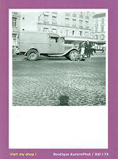 PHOTO DE POLICE CONSTAT D'ACCIDENT 1955, VIEILLE CAMIONNETTE CONTRE CYCLO  -J79