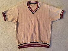 VTG Short Sleeve Sweater Rare Original 50's 60's Mid Century V Neck Cool Mod