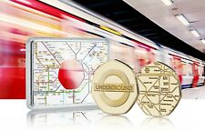 More details for london underground official 24ct gold commemorative in case. subway/tube/tfl