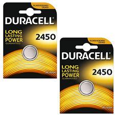 2 confezioni of1 DURACELL 2450 Batteria A Bottone Al Litio 3 V CR2450 DL2450 2450 K2450L