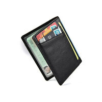 Men Genuine Leather Pocket Slim Wallet Thin Credit Card Holder ID Case Purse Bag