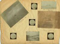 San Francisco, CA - BATTLESHIPS & STEAMSHIPS ON BAY 1900s REAL PHOTO ALBUMEN LOT