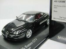 Wow extrêmement rare Alfa Romeo 916 C GTV 3.2 V6 24 V 2003 noir 1:43 Minichamps - 164